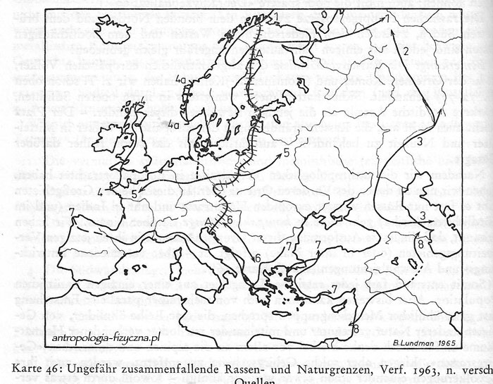 racial and geographic boundaries in Europe - Lundman