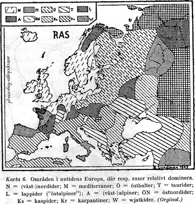 Lundman - races of Europe 1943