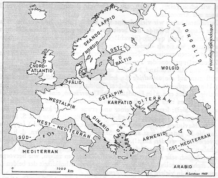 Lundman - races of Europe 1967